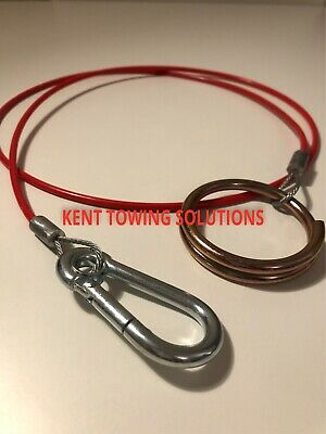Maypole Breakaway Cable for Trailer Caravan Tow Towing Bar 1M, 2mm Diameter 498B