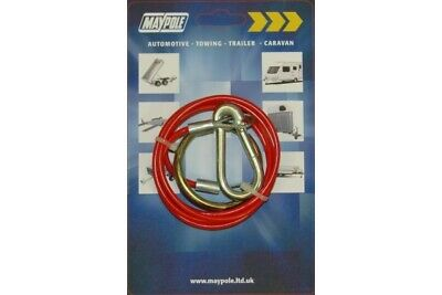 New Maypole Breakaway Cable for Trailer Caravan Tow Bar 1 Meter Diameter MP498 !