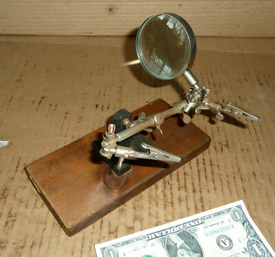 Vintage Adjustable Magnifying Glass,Fly Fishing Tying,Jewelry,Jeweler,Watch tool