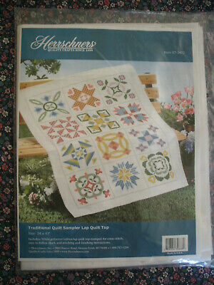 "Janlynn Stamped Quilt Cross Stitch Kit 34/""X43/""-Baby Deer-Stitched In Floss"