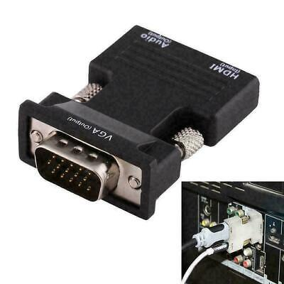 1080P HDMI Female to VGA Male with Audio Output Cable HOT Converter Adapter M7T6