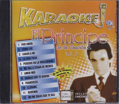 Jose Jose El Principe de la Cancion Vol 3 KARAOKE CD+Grafics Incluye Cancionero