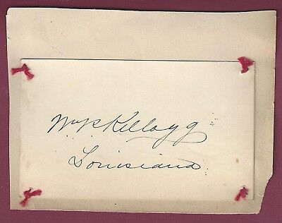 William Pitt Kellogg, Louisiana Politician, Signed Card, COA, UACC RD 036