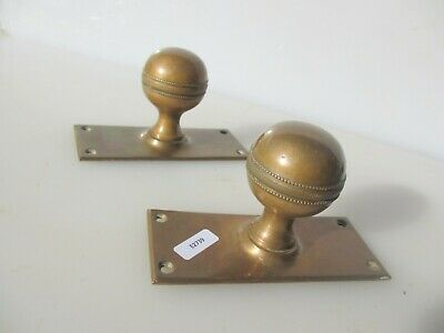 Vintage Bronze Door Knobs Handles Pulls Architectural Antique Old Reclaim Plates