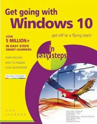 Get Going With Windows 10 in Easy Steps, Paperback by Vandome, Nick, Brand Ne...