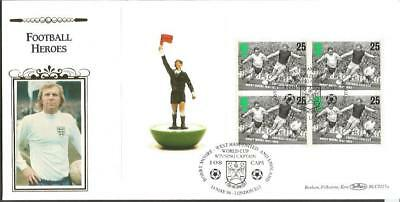 Football legends Moore 1996 Benham Official FDC BLCS117cs London postmark Z135