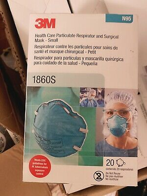 3M 1860 N95 Particulate Respirator and Surgical Mask Box of 20 EXP 07/24 中国现货包邮