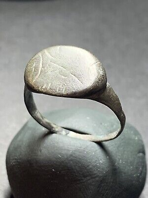 Ancient Roman Bronze Finger Ring 1st Century AD.