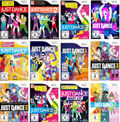 Wii Just Dance 1, 2, 3, 4, - 2014,2017,2018,2019 Kids , Best of Just Dance