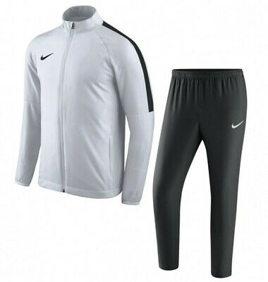 NIKE Youth Kids Academy 18 Woven Tracksuit - WHITE/BLACK With Tags Size M Sports