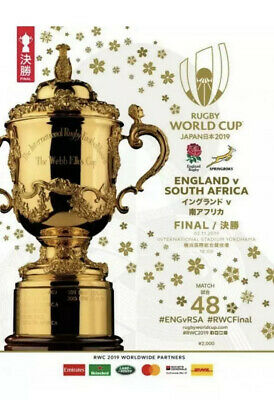 2019 RUGBY WORLD CUP FINAL OFFICIAL PROGRAMME - ENGLAND v SOUTH AFRICA