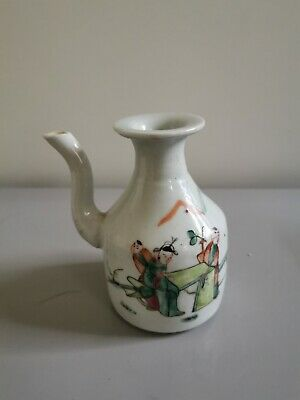 Antique Chinese Porcelain Teapot , Qianjiang  ware,early 1900th's.