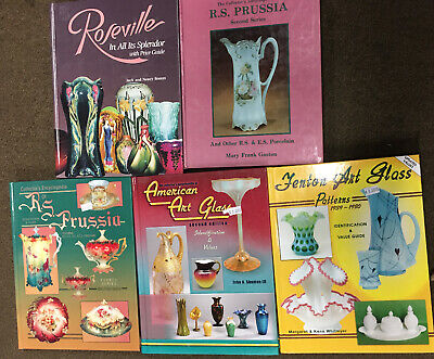 Lot Of 5 Art Glass Identification and Value Guides