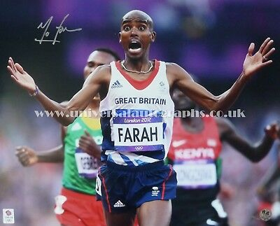 Mo Farah Signed Photo London 2012 Olympics Limited Edition