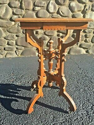 Antique Victorian Stick Ball Renaissance Revival Table