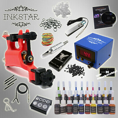 Complete Tattoo Kit Professional Inkstar 1 Machine VENTURE ROTARY Set GUN 20 Ink