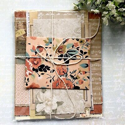DIY Gorgeous Vintage Style Craft Paper Pack /Junk Journal/Card Making/ Scrapbook