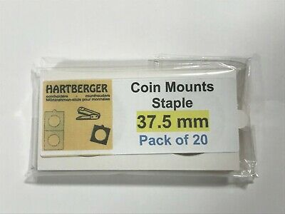 HARTBERGER BRAND 20 Staple Type 2 x 2 coin holders 37.5mm