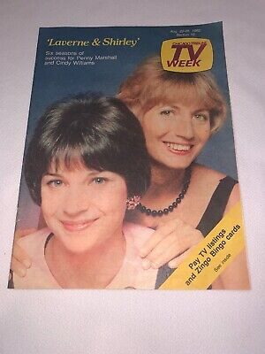 Vtg 1982 Chicago Tribune TV WEEK Guide Lavern & Shirley Penny Marshall, Williams