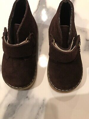 Boys Toddler Shoes Ankle Boots Dark Brown Suede Size 23
