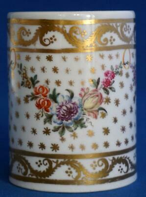 Antique Continental Paris Porcelain Cylinder Roll Hand Painted