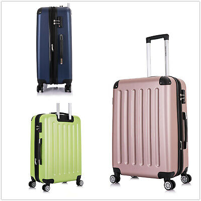 Reisekoffer Hartschalenkoffer Trolley 4Rollen TSA-Schloss M-L-XL-Set Frentree226