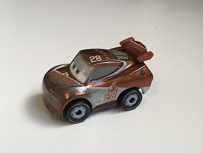 Brand New Disney Pixar Metal Mini Micro Cars Mini Racers Silver Tim Treadless