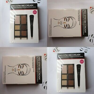 Freedom Professional Pro Cream Contour And Strobe Palette With Brush