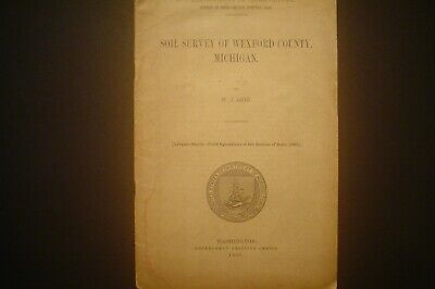 Antique 1909 Booklet Soil Survey Of Wexford County, Michigan With Map 20 Pages