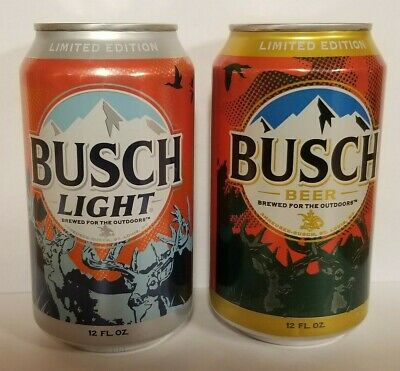 Busch & Busch Light Big Buck Hunter Cans Limited Edition