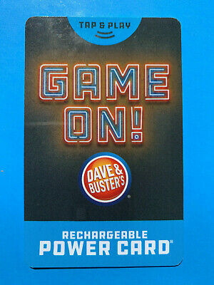 Dave And Busters Power Card w/ Over 10,000 Tickets ~ D & B (10,219) Prize Points