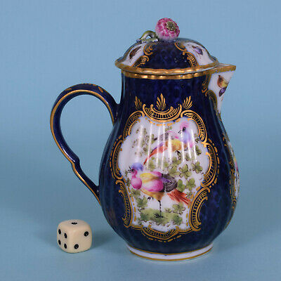 Worcester Style Scale Blue Jug & Cover - Samson, Paris c1900