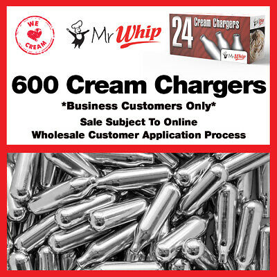 600 Nitrous Oxide Cream Chargers Mr Whip Whipped Cream N2O - FREE DELIVERY