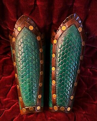 Leather Arm Guard Gauntlet Dragon Cosplay Renaissance