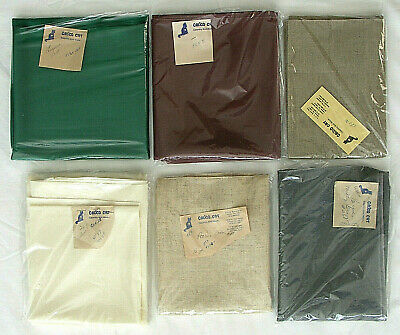 Lot Of 26 & 28 Count Cross Stitch Linen - 7 Nice Large Pieces