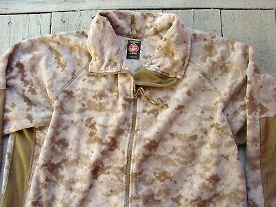 USMC Desert Digital MARPAT Polartec Jacket Wind Pro Fleece Medium Regular Used