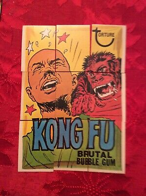 1974 Topps Wacky Packages 8th Series Kong Fu Puzzle Complete Set Packs