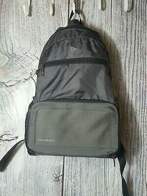 Travelon Anti Theft Active Packable Backpack Charcoal 43207-530 RFID Shield
