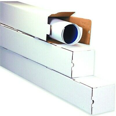 White Square Mailing Tubes Poster Document Blueprints Storage Boxes 1234578
