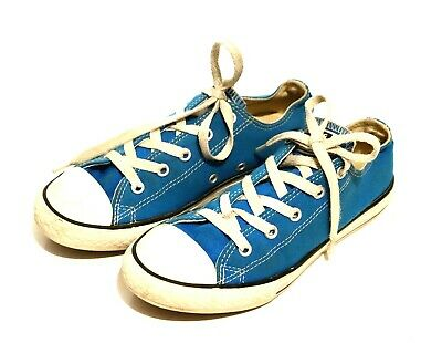 Converse Blue White All Star Sneakers Youth Kid US 2 33.5 Runners Canvas Skater