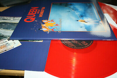 Queen - Live At Wembley' 86 - Rare 2LP Color Arena Pop Rock & Printed Sleeves