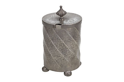 An English Arts & Crafts Civic pewter condiment pot