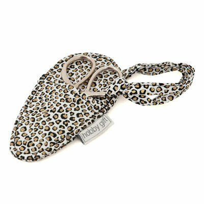 Embroidery Scissors in Case - Animal Print Pouch - HobbyGift TK25-533