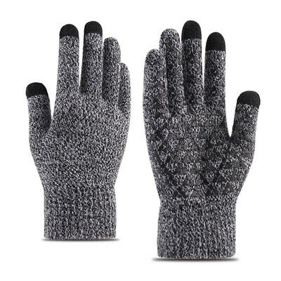 Winter Warm Touchscreen Gloves for Women Men Knit Wool Lined Texting #ha2