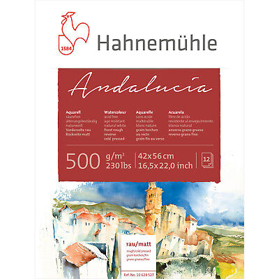 Hahnemuhle Andalucia 500gsm Watercolour Block 42x56cm