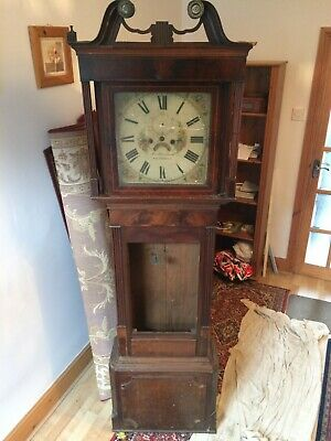 Grandfather Clock spares or repair needs lots of work door missing see pictures