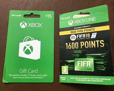 Microsoft Xbox £15 Gift Card And Xbox One Fifa 18 1600 Points