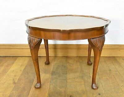 Antique style carved Wanut coffee table / occasional table / lamp table