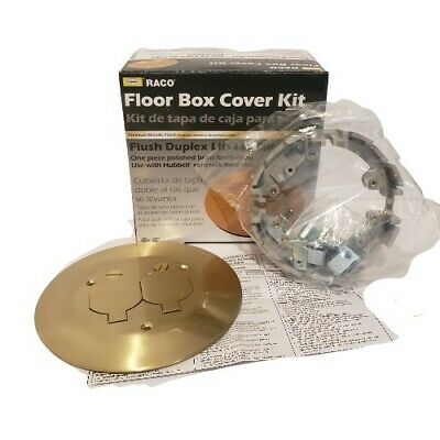Hubbell Round Floor Box Cover Kit w/2 Lift Lids RACO RAC5500KIT