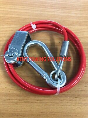 New Maypole Breakaway Cable Trailer Ifor Williams Tow Bar 1M 3mm Diameter MP502